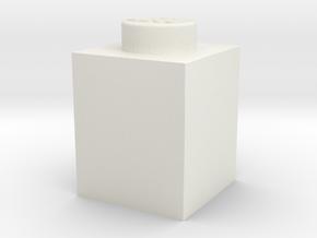 BRICK 1X1 in White Natural Versatile Plastic