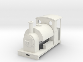 1:32 saddle tank loco open backed cab in White Natural Versatile Plastic