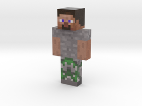 2019_10_21_mossy-cobble-steve-13582241 | Minecraft in Natural Full Color Sandstone