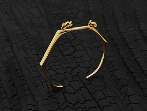 Chasing Rabbits Cuff (Gold) in 14K Yellow Gold: Small