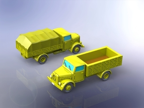 German KHD S3000 Trucks 1/160 in Smooth Fine Detail Plastic