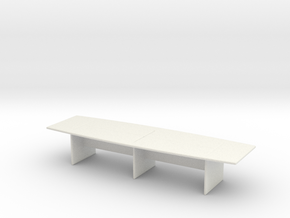 Modern Office Desk 1/72 in White Natural Versatile Plastic