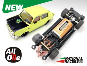 Chassis Revell SIMCA 1000 Rallye 2 (Narrow-In-AiO) in Black Natural Versatile Plastic