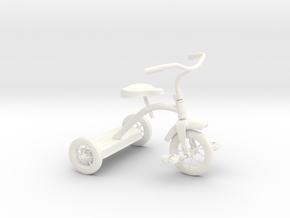 Tricycle in White Strong & Flexible Polished