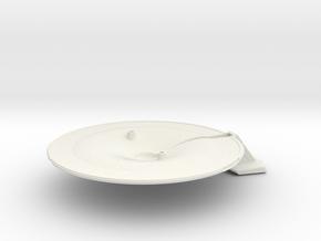 1/1400 USS Lynx Saucer Bottom in White Natural Versatile Plastic