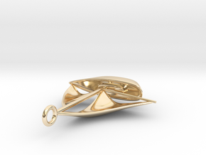 Sailboat pendant in 14K Yellow Gold
