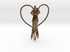 Squid Heart in Natural Bronze