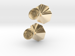 Cufflinks Octagonal Origami in 14K Yellow Gold