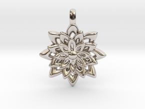 Lotus Flower Symbol Jewelry Necklace in Platinum