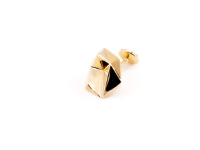 Cufflinks Origami  in 14k Gold Plated Brass