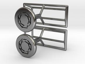 Cufflinks Minimalistic in Polished Silver