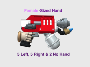 12x Mk3: Flame Pistols (L&R Female Hands) in Smooth Fine Detail Plastic