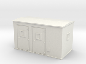 Transformer substation 1/76 in White Natural Versatile Plastic