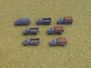 German KHD Truck Variants 1/285  in Smooth Fine Detail Plastic