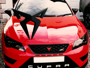 "Pre-Facelift Cupra Front ""S"" Badge - Logo Part in White Natural Versatile Plastic"
