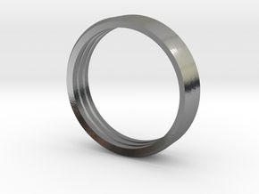 Penta Band Ring Unisex (3 Bands) in Polished Silver