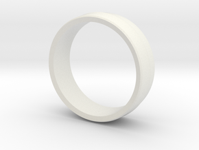 Alternative Penta Unisex Band Ring by V DESIGN LAB in White Natural Versatile Plastic