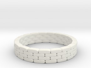 Sandbag Ring 1/87 in White Natural Versatile Plastic