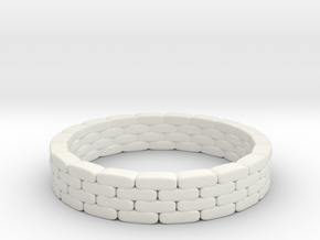 Sandbag Ring 1/56 in White Natural Versatile Plastic