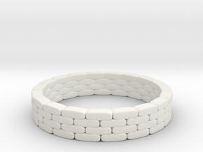 Sandbag Ring 1/43 in White Natural Versatile Plastic
