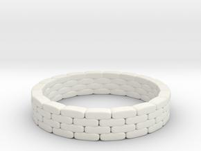 Sandbag Ring 1/35 in White Natural Versatile Plastic