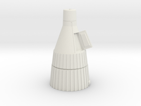James Bond - Jupiter Space Ship in White Natural Versatile Plastic