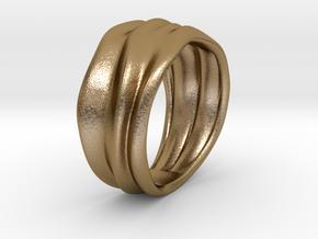 Lunar | Ring in Polished Gold Steel: 7 / 54