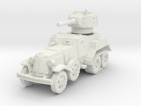 BA-10M (with Tracks) 1/76 in White Natural Versatile Plastic