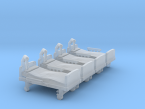 Hospital Bed 01. N Scale (1:160) in Smooth Fine Detail Plastic