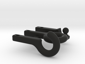 SCX24 hitch set: ball, strap and loop in Black Natural Versatile Plastic
