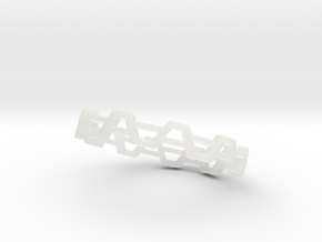 Trapezoid Ring in Smooth Fine Detail Plastic