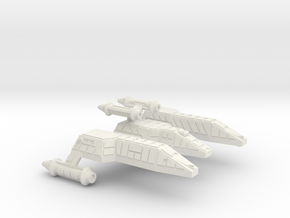 3125 Scale Lyran Jaguar-H Heavy War Cruiser CVN in White Natural Versatile Plastic