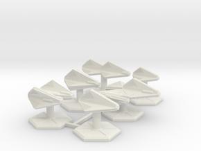 7000 Scale Tholian Fleet Core Collection SRZ in White Natural Versatile Plastic