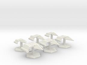 7000 Scale Neo-Tholian Fleet Core Collection SRZ in White Natural Versatile Plastic