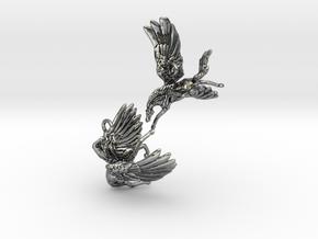 Horsefly Earrings in Antique Silver