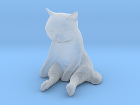 1/24 G Scale Sitting Cat in Smoothest Fine Detail Plastic