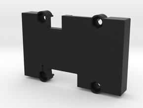 X2.1 Case - Bottom - Vertical Pins in Black Natural Versatile Plastic