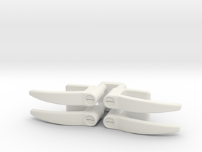 EC135 Door Handles 1/4 in White Natural Versatile Plastic