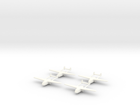 Go-242 German Glider 1/600 X4 in White Processed Versatile Plastic