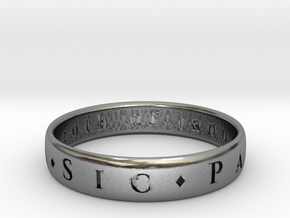 Sir Francis Drakes Ring in Antique Silver