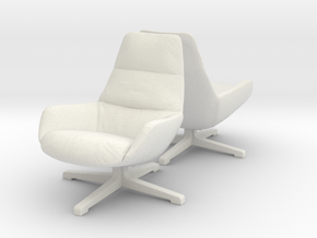 Chair 08. 1:24 Scale in White Natural Versatile Plastic