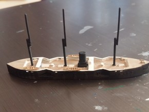 1/1250 Hamidiye Class Ironclad in Smooth Fine Detail Plastic