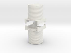 Water Tank (x2) 1/144 in White Natural Versatile Plastic