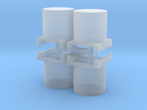 Water Tank (x4) 1/220 in Smooth Fine Detail Plastic