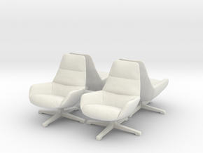 Chair 08. 1:48 Scale in White Natural Versatile Plastic