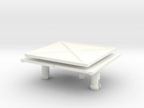 CAISSON DE 75 PART 1  in White Processed Versatile Plastic