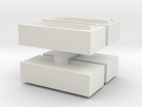 Modern Bath (x4) 1/72 in White Natural Versatile Plastic