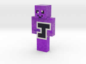 Jakey purple | Minecraft toy in Natural Full Color Sandstone