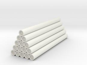 Wooden Railway Steel Load in White Natural Versatile Plastic