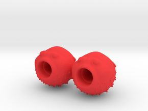 Blowfish Valve Caps - Shrader in Red Strong & Flexible Polished
